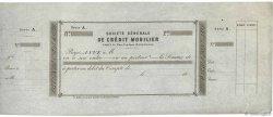 Francs FRANCE régionalisme et divers PARIS 1864 DOC.Chèque SUP