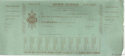 Francs FRANCE régionalisme et divers PARIS 1864 DOC.Chèque TTB