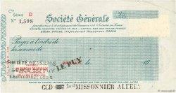 Francs FRANCE régionalisme et divers BRIOUDE 1933 DOC.Chèque SUP