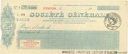 Francs FRANCE régionalisme et divers CONDOM 1920 DOC.Chèque SUP