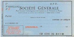 Francs FRANCE régionalisme et divers GRENOBLE 1937 DOC.Chèque SUP