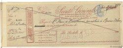 Francs FRANCE régionalisme et divers La Rochelle 1889 DOC.Chèque TTB