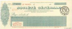 Francs FRANCE régionalisme et divers LE RAINCY 1915 DOC.Chèque SUP