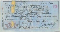 8000 Francs FRANCE régionalisme et divers LYON 1938 DOC.Chèque TTB