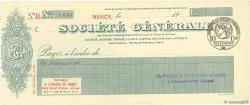 Francs FRANCE régionalisme et divers Nancy 1915 DOC.Chèque SUP
