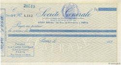 Francs FRANCE régionalisme et divers PARIS 1890 DOC.Chèque SPL