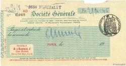 2994,45 Francs FRANCE régionalisme et divers Paris 1924 DOC.Chèque TTB