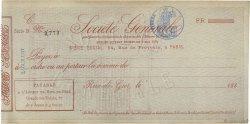 Francs FRANCE régionalisme et divers RIVE-DE-GIER 1880 DOC.Chèque