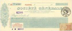 Francs FRANCE régionalisme et divers ROANNE 1923 DOC.Chèque SUP