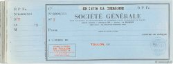 Francs FRANCE régionalisme et divers TOULON 1938 DOC.Chèque SUP