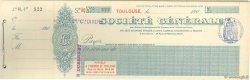 Francs FRANCE régionalisme et divers TOULOUSE 1900 DOC.Chèque SUP