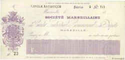 Francs FRANCE régionalisme et divers Marseille 1871 DOC.Chèque SUP
