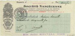 5000 Francs FRANCE régionalisme et divers Nancy 1915 DOC.Chèque SUP
