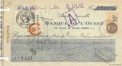 1200 Francs FRANCE régionalisme et divers Paris 1926 DOC.Chèque TTB