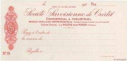 Francs FRANCE régionalisme et divers La Roche-Sur-Foron 1930 DOC.Chèque SPL