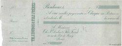 Francs FRANCE régionalisme et divers BORDEAUX 1880 DOC.Chèque SUP