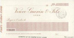 Francs FRANCE régionalisme et divers LYON 1920 DOC.Chèque SPL