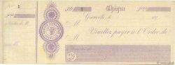 Francs FRANCE régionalisme et divers GRANVILLE 1870 DOC.Chèque TTB
