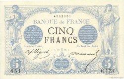 5 Francs NOIR FRANCE  1872 F.01.03 SUP+