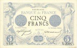 5 Francs NOIR FRANCE  1873 F.01.16 SPL