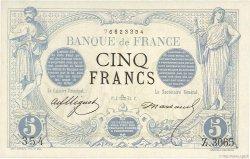 5 Francs NOIR FRANKREICH  1873 F.01.22
