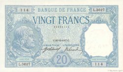 20 Francs BAYARD FRANCE  1917 F.11.02 SUP