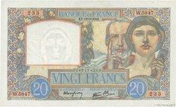 20 Francs SCIENCE ET TRAVAIL FRANCE  1941 F.12.18 SPL