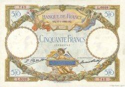 50 Francs LUC OLIVIER MERSON FRANCE  1930 F.15.04 pr.SUP