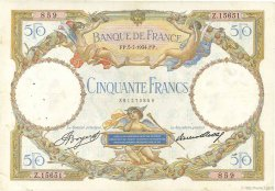 50 Francs LUC OLIVIER MERSON type modifié FRANCE  1934 F.16.05 TB à TTB