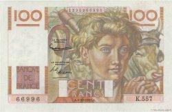 100 Francs JEUNE PAYSAN filigrane inversé FRANCE  1953 F.28bis.03 TTB+