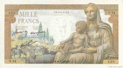 1000 Francs DÉESSE DÉMÉTER FRANCE  1942 F.40.01 SUP+