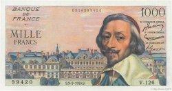 1000 Francs RICHELIEU FRANCE  1955 F.42.11 pr.NEUF