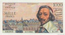 1000 Francs RICHELIEU FRANCE  1955 F.42.12 pr.NEUF