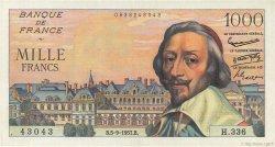 1000 Francs RICHELIEU FRANCE  1957 F.42.26 SUP