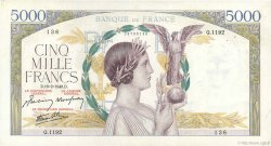 5000 Francs VICTOIRE Impression à plat FRANCE  1943 F.46.48 TTB