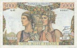 5000 Francs TERRE ET MER FRANCE  1951 F.48.03 SUP+