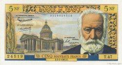 5 Nouveaux Francs VICTOR HUGO FRANCE  1961 F.56.06 pr.NEUF