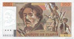 100 Francs DELACROIX FRANCE  1978 F.68.01 pr.NEUF