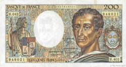 200 Francs MONTESQUIEU alphabet H.402 FRANCE  1986 F.70ter.01 TTB
