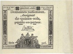 15 Sols FRANCE  1793 Ass.41b pr.NEUF