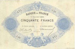 50 Francs type 1868 Indices Noirs FRANCE  1869 F.A38.02 TB+