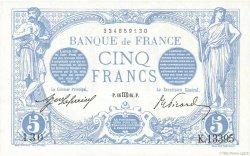 5 Francs BLEU FRANCE  1916 F.02.42 NEUF