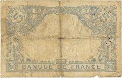 5 Francs BLEU lion inversé FRANCE  1915 F.02bis.03 B