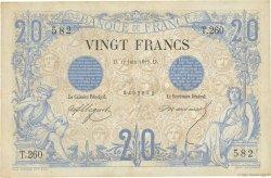 20 Francs NOIR FRANCE  1875 F.09.02 TB+