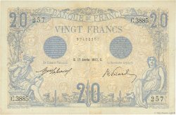 20 Francs BLEU FRANCE  1913 F.10.03 TTB+