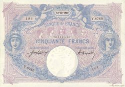 50 Francs BLEU ET ROSE FRANCE  1920 F.14.33 SUP+