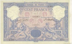 100 Francs BLEU ET ROSE FRANCE  1889 F.21.02 TTB+