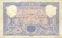 100 Francs BLEU ET ROSE FRANCE  1906 F.21.20 TB à TTB