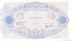 500 Francs BLEU ET ROSE modifié FRANCE  1939 F.31.28 SUP