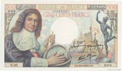 500 Francs COLBERT FRANCE  1943 F.33.00s2 NEUF